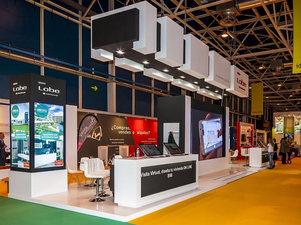 Dise o y montaje del stand para construcciones lobe sima for Disenos de stand para exposiciones